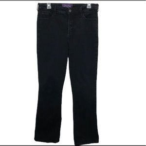 Not Your Daughter's Black Straight Leg Jean sz 14
